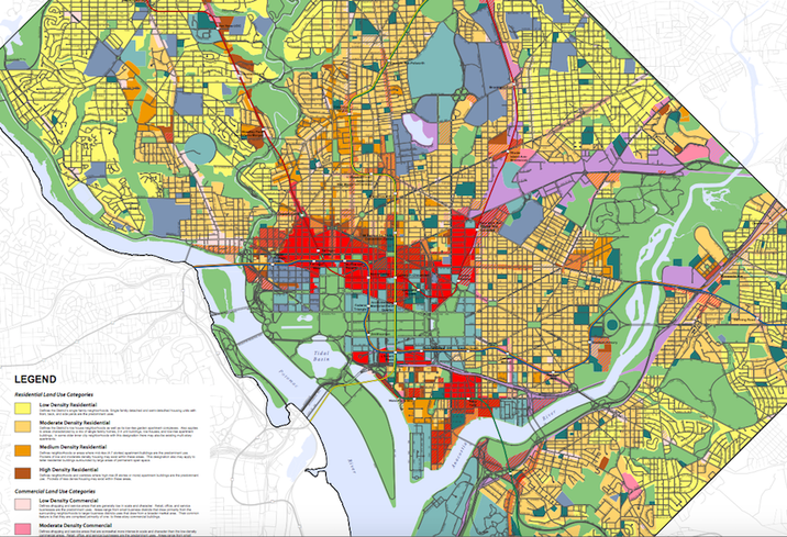 D.C. Future Land Use Map