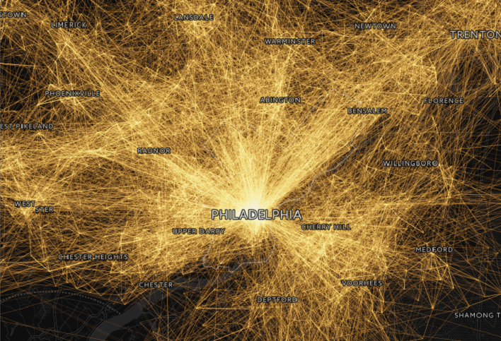 This Visualization Shows How People Travel In And Around Philly