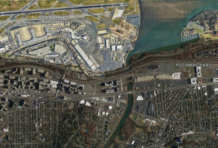 Crystal City Potomac Yard aerial