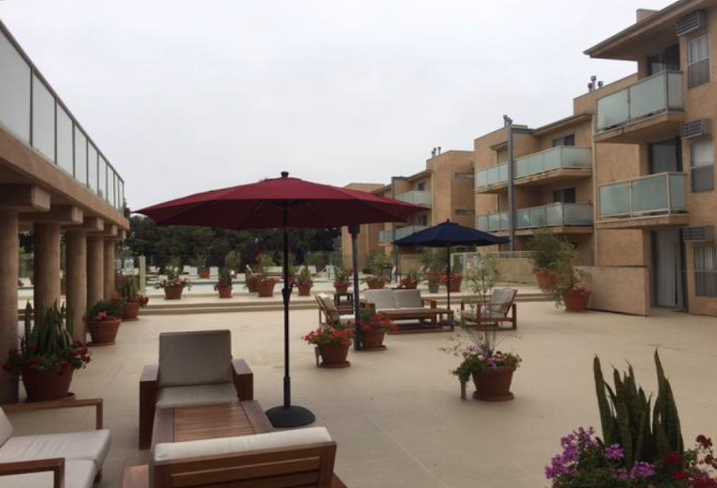 The Woodmere, a luxury garden apartment property at 3700 South Sepulveda Blvd. in Los Angeles