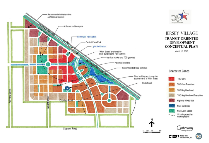 Jersey Village Mixed-Use Proposed Site Map