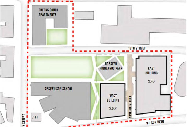 West Rosslyn site plan