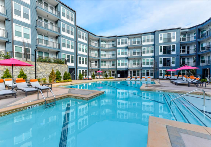 Station R, a luxury apartment complex in Atlanta recently acquired by Gaia Real Estate