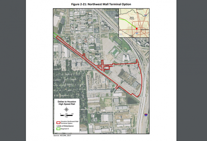 TCRR Houston Northwest Mall Terminal Option