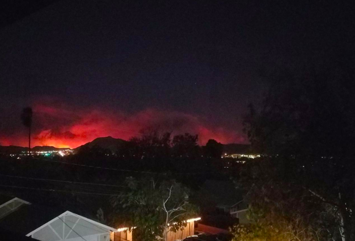 The Thomas Fire as seen from Newbury Park