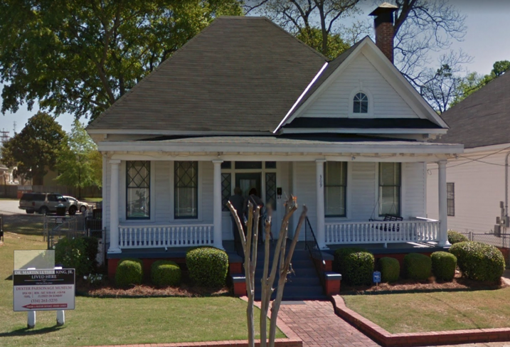 Martin Luther King Jr. Montgomery home.