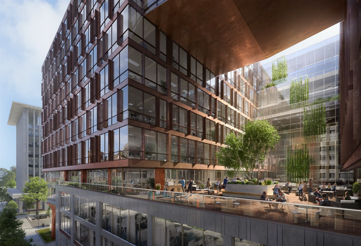 A rendering of JBG Smith's new design for 1700 M St. NW