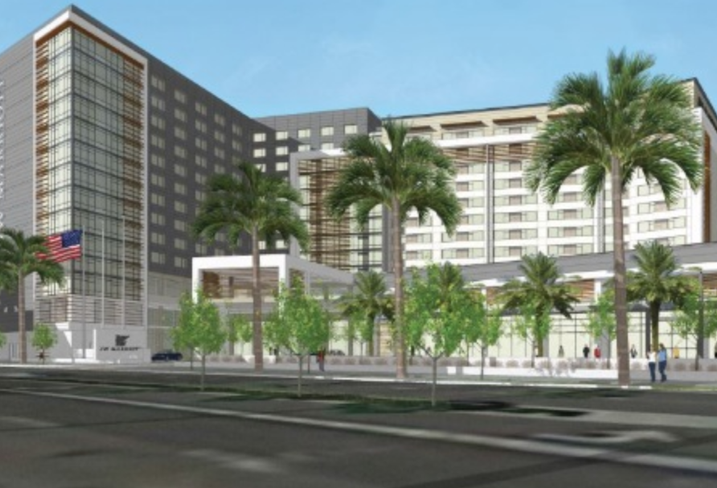 A rendering of the four-diamond JW Marriott in Anaheim.