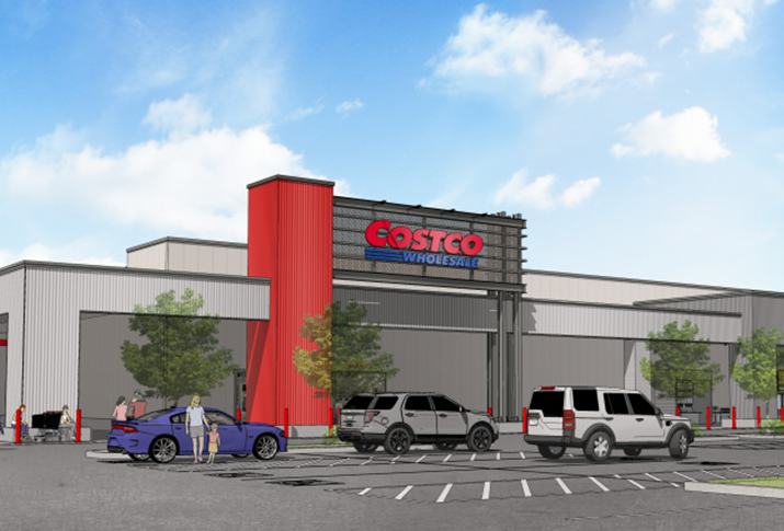 Rendering of the Costco planned for the Goodman Commerce Center
