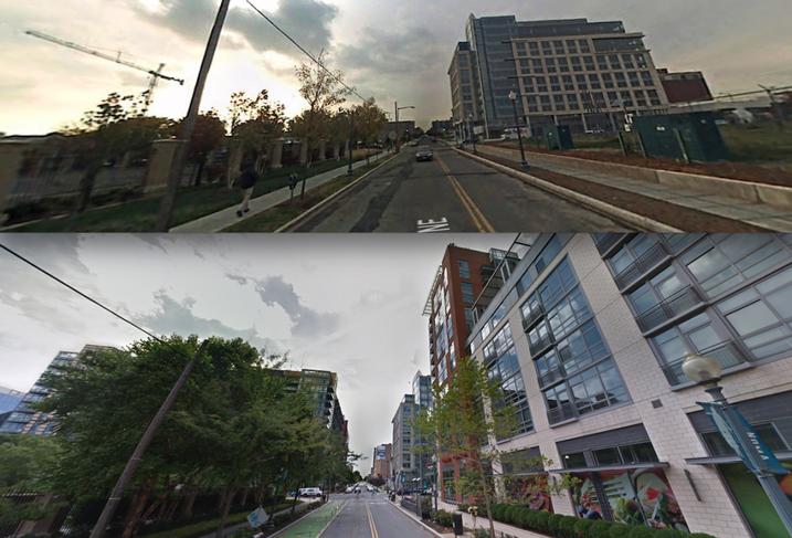 NoMa November 2007 and July 2017