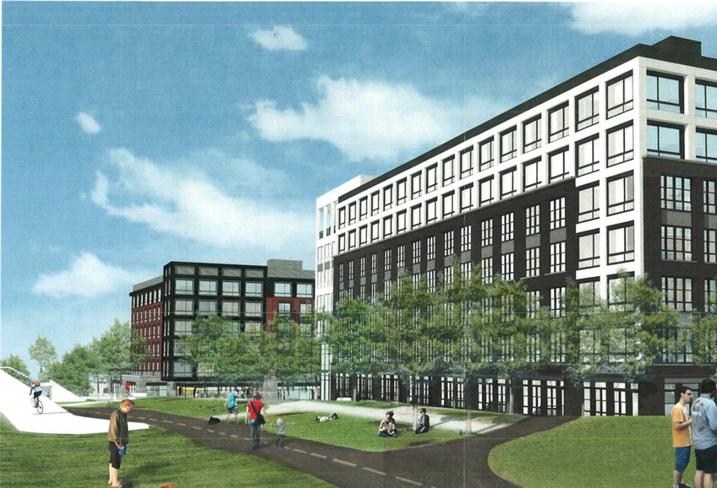 A rendering of MRP Realty's Bryant Street development