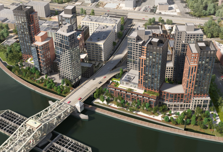 The master plan designed for the waterfront development in the South Bronx, which Brookfield bought September, 208