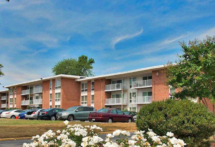 The Pennbrooke Station apartments in District Heights, Maryland