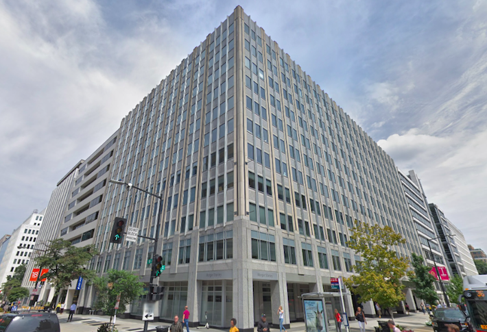 WashREIT's office building at 1775 Eye St. NW