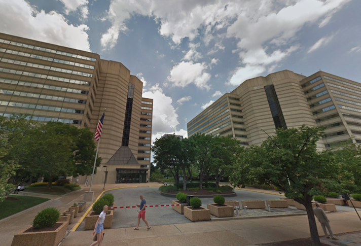 The TSA buildings at 601 and 701 South 12th St. in Pentagon City