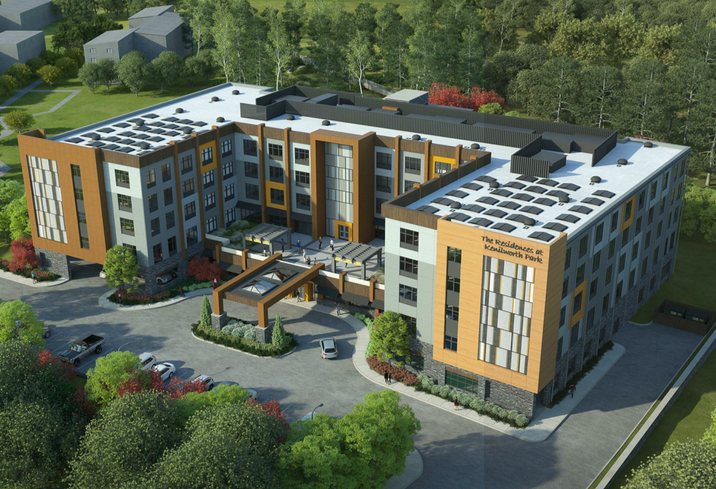 A rendering of The Residences at Kenilworth Park project