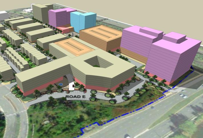 A site plan of the Arrowbrook Centre development