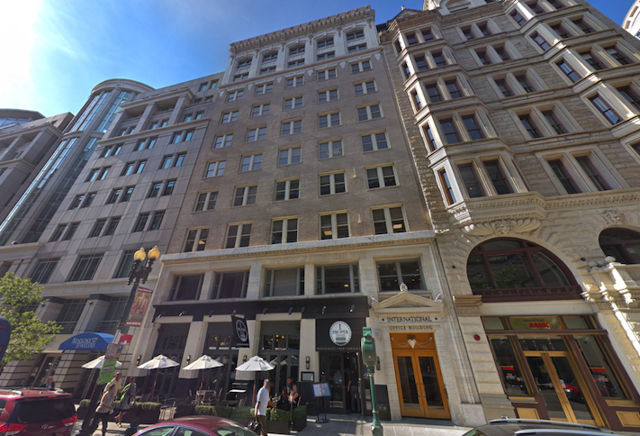 The office building at 1319 F St. NW