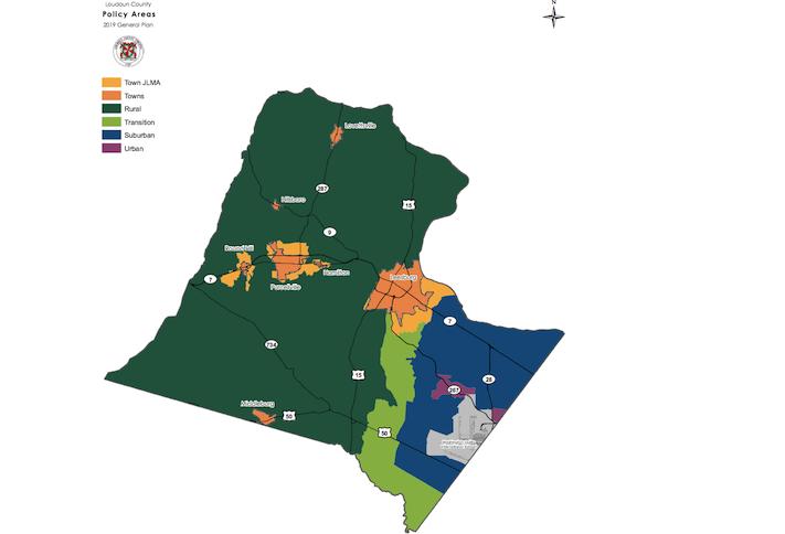 Loudoun County comprehensive plan map