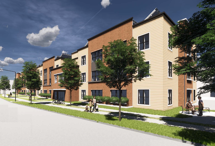 A rendering of the senior affordable housing project planned at 3311-3329 14th Place SE