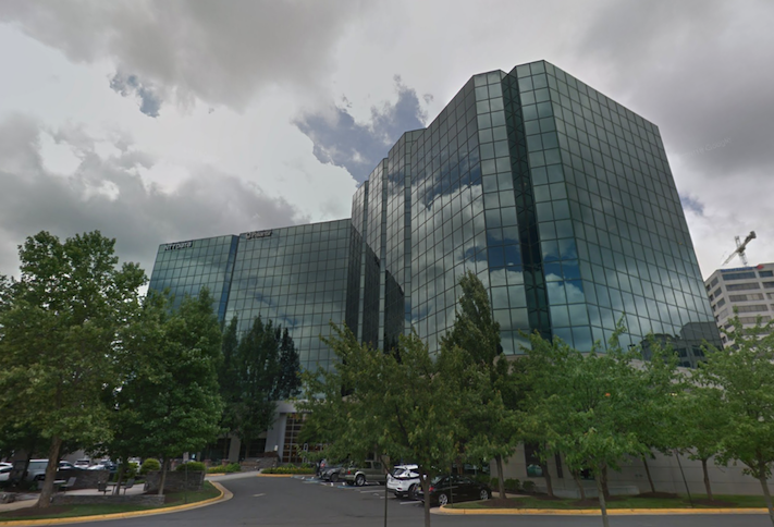 The office building at 1660 International Drive in Tysons