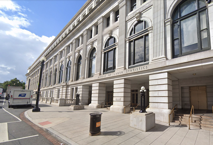The Bureau of Labor Statistics headquarters at 2 Massachusetts Ave. NW