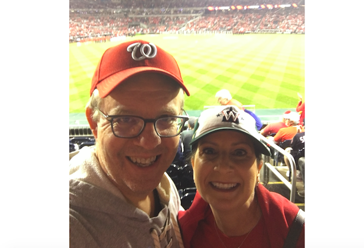 Savills' Adam Singer and his wife Suzanne at a World Series game