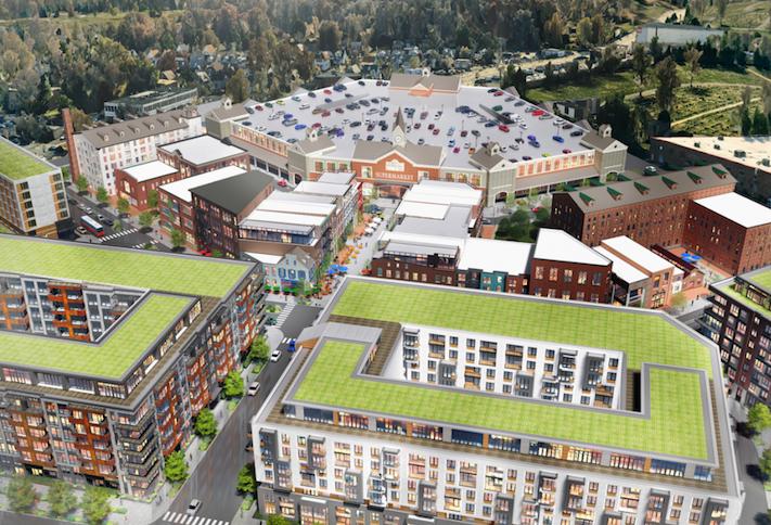A rendering of Douglas Development's New City DC project