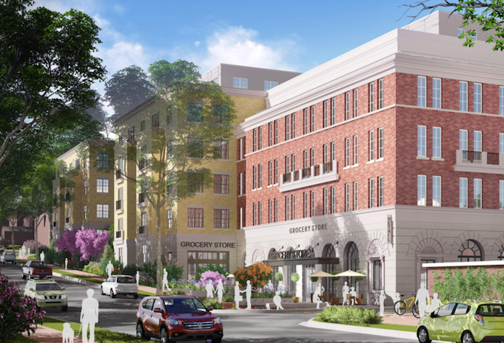 A rendering of Valor Development's 214-unit project at 4330 48th St. NW