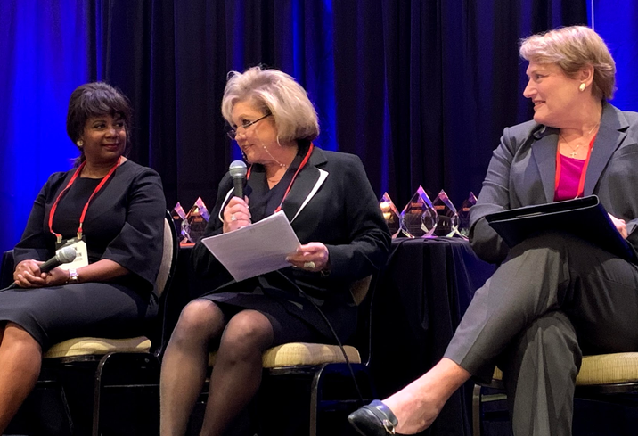 City of Houston Deputy Director of Economic Development Gwen Tillotson, The Richland Cos. CEO Edna Meyer-Nelson, Veritex Bank Senior Vice President Rhonda Sands
