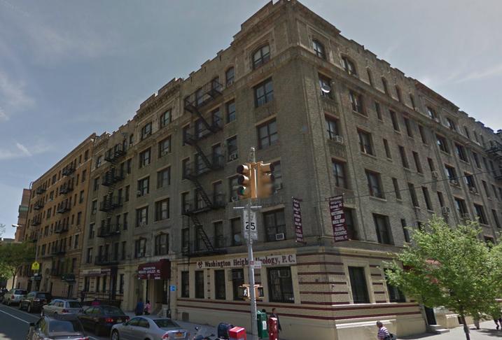 Old apartment buildings in Manhattan's Washington Heights neighborhood