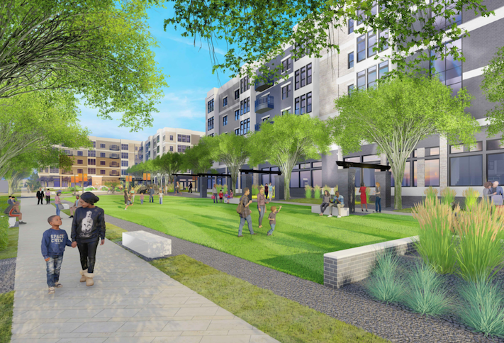 A rendering of the Beltway Plaza Mall redevelopment in Greenbelt.