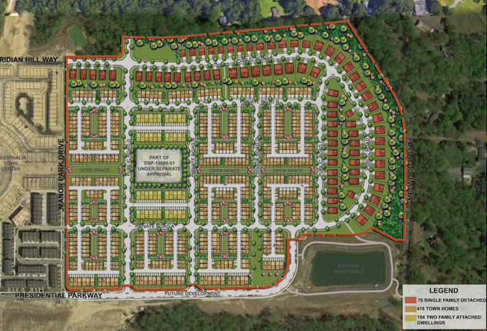 A site plan for the Westphalia East development.