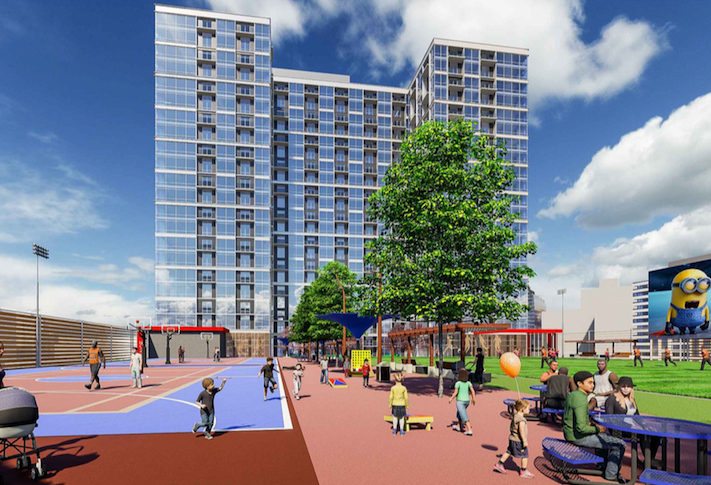 A rendering of Georgelas' North Spring Hill Station development.