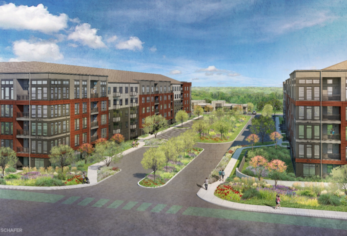 A rendering of The NRP Group's Motiva project in Greenbelt.
