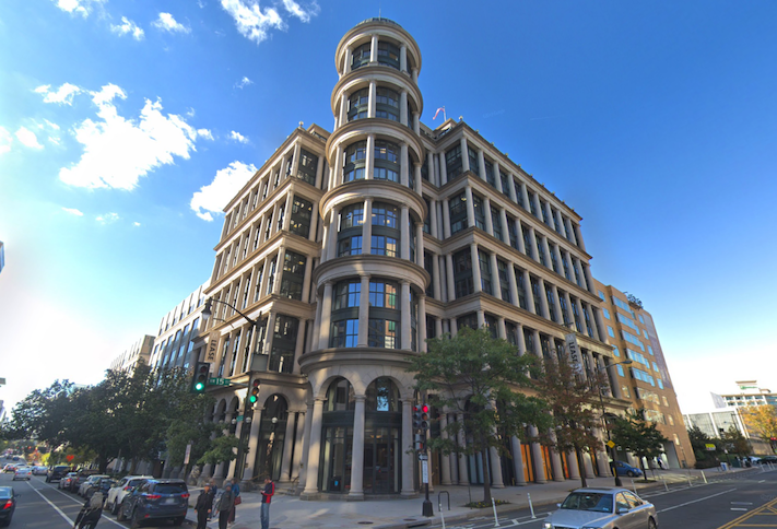 The office building at 1501 M St.  NW in D.C.