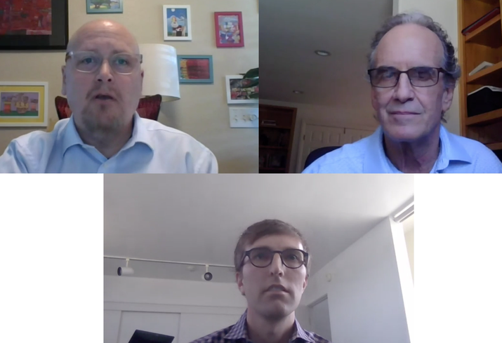 RealtyCom Partners President Rush Blakely, Bel Air Internet President and CEO Terry Koosed and Brookfield Properties Vice President of Mixed-Use Development Patrick Rhodes discuss tech in the coronavirus environment during a Bisnow webinar