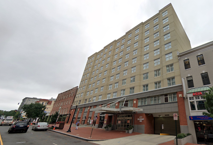 The Residence Inn Dupont at 2120 P St. NW.