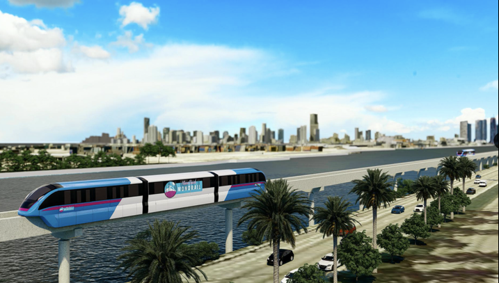 Long-Dreamed Train To Miami Beach Could Be A Monorail