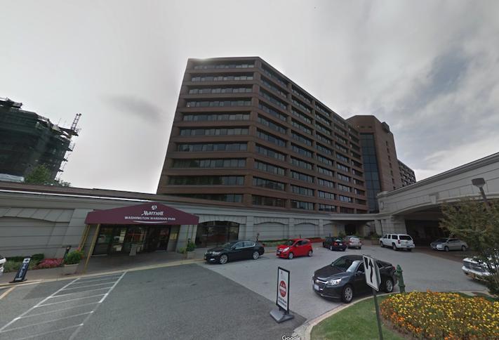 The Washington Marriott Wardman Park hotel at 2660 Woodley Road NW.
