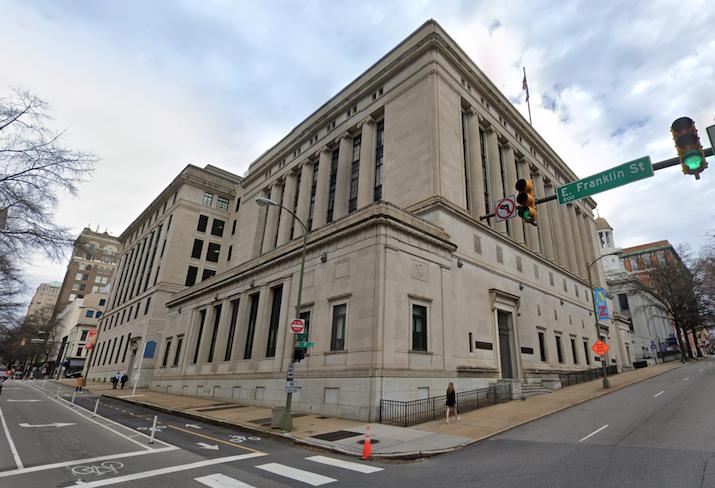The Virginia Supreme Court building in Richmond.