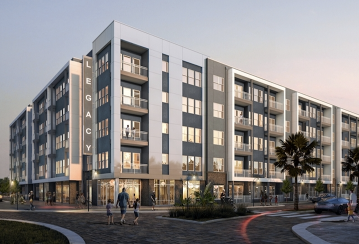 Rendering of Griffin Capital and Legacy Partners opportunity zone multifamily project