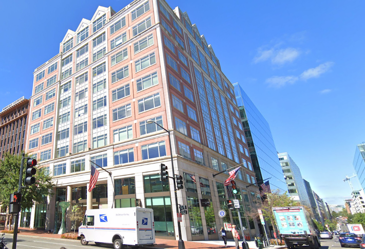 The building at 2001 Pennsylvania Ave. NW where NBBJ is opening an office.