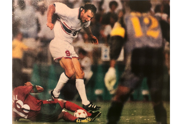 AJ Wood playing for the U.S. Mens National Team in the 1996 Olympics.