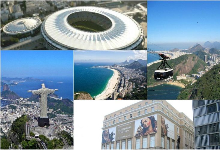 rio collage landmarks