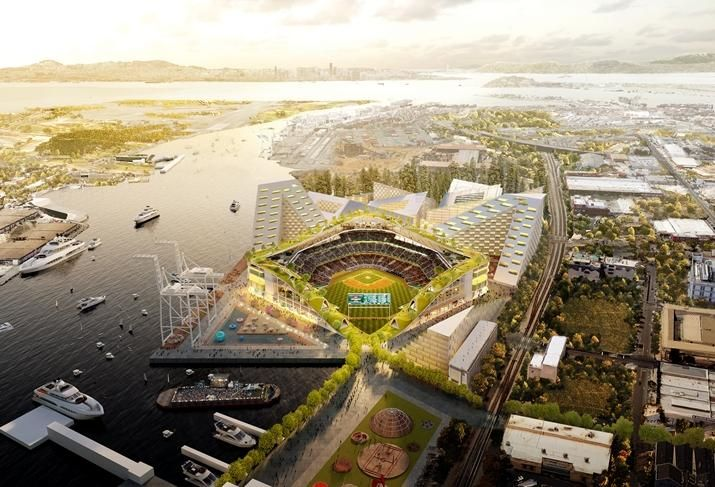 big renderings for oakland a s stadium focus on community engagement