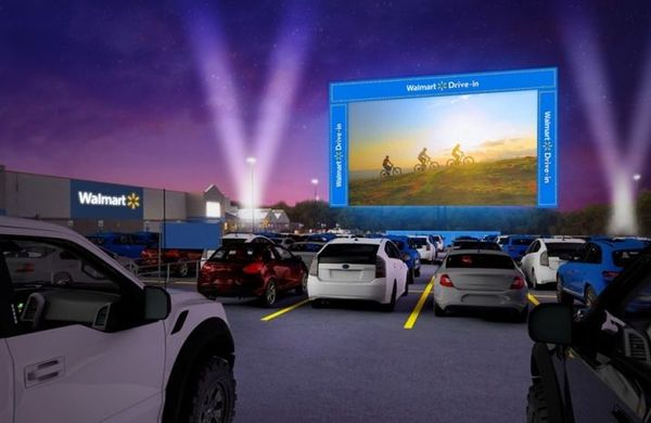 Walmart's 160-Store Parking Lot Drive-In Movie Experience Starts Rolling Out Next Weekend