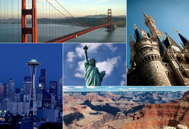 American landmark collage