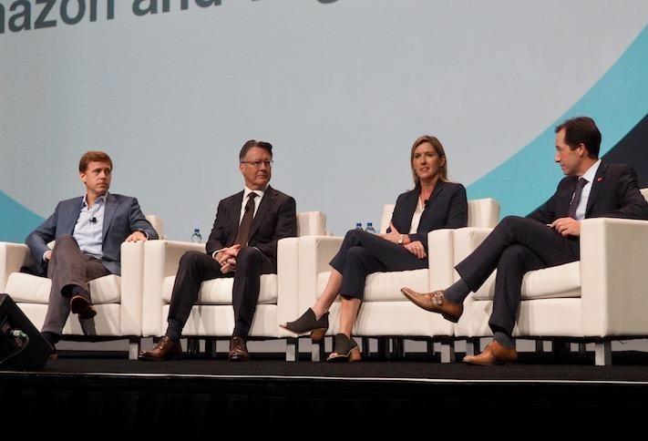 JBG Smith's Matt Kelly, Virginia Tech's Timothy Sands, Amazon's Holly Sullivan and Greater Washington Partnership's Jason Miller