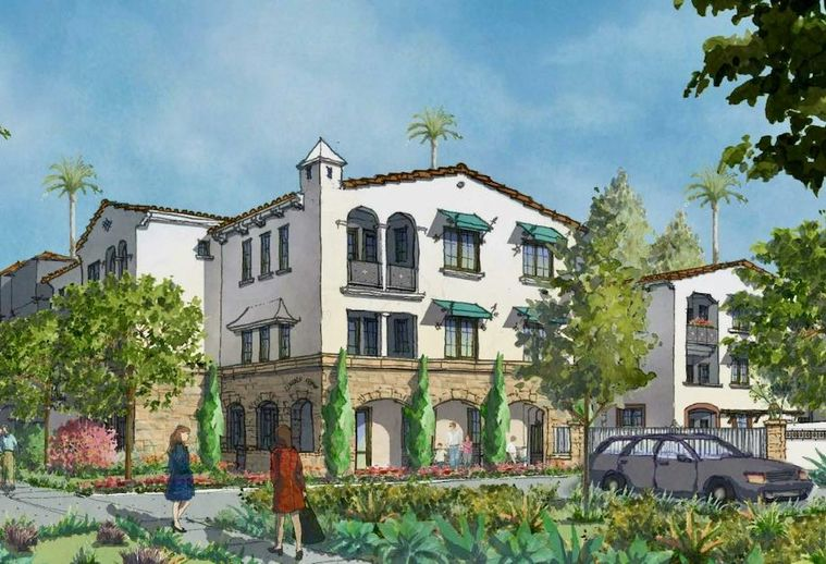 Rendering of Innovative Housing Opportunities' El Verano Apartments, a 54-unit affordable housing community in Anaheim